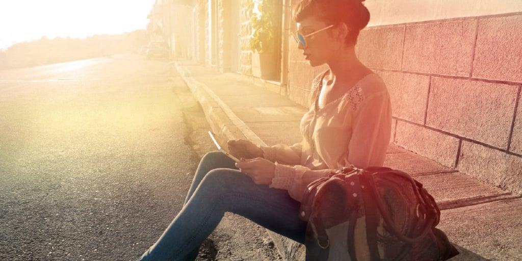 GfK Media Measurement girl watching on iPad tablet