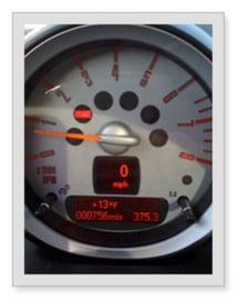 mini-tachometer