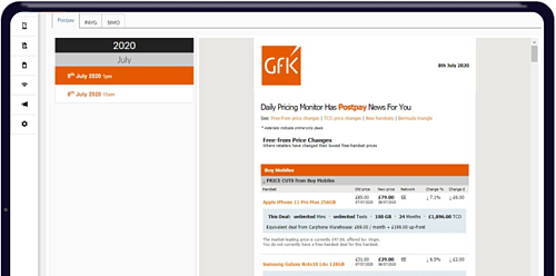 GfK Daily Pricing Tracker - Retail Price Analysis for Telecoms Sector