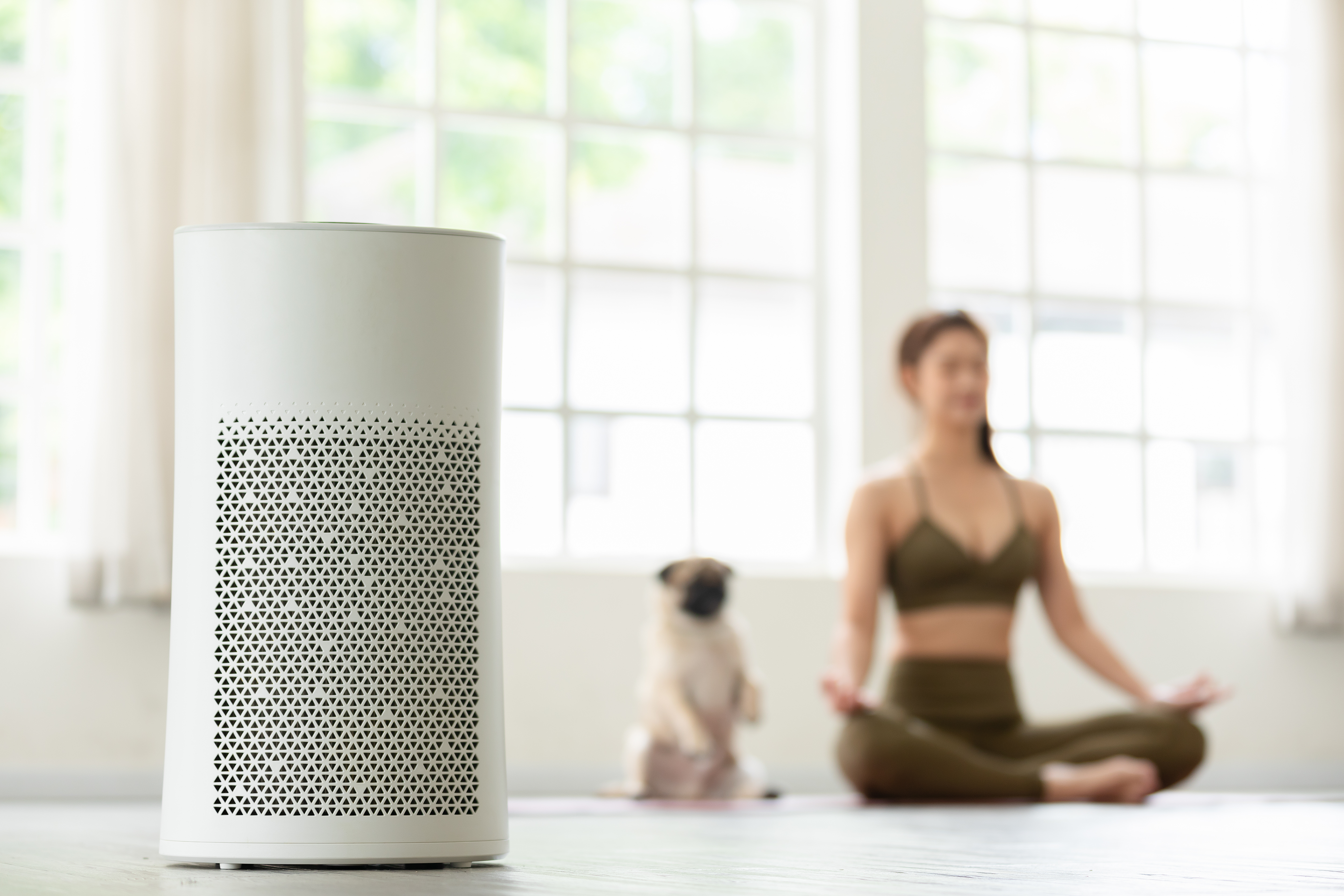 Woman smart home health fitness trends