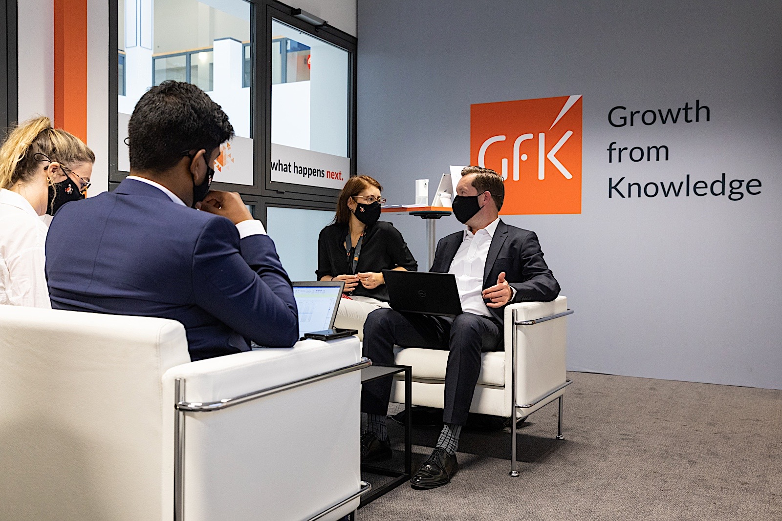Meetings in the GfK office at IFA 2020