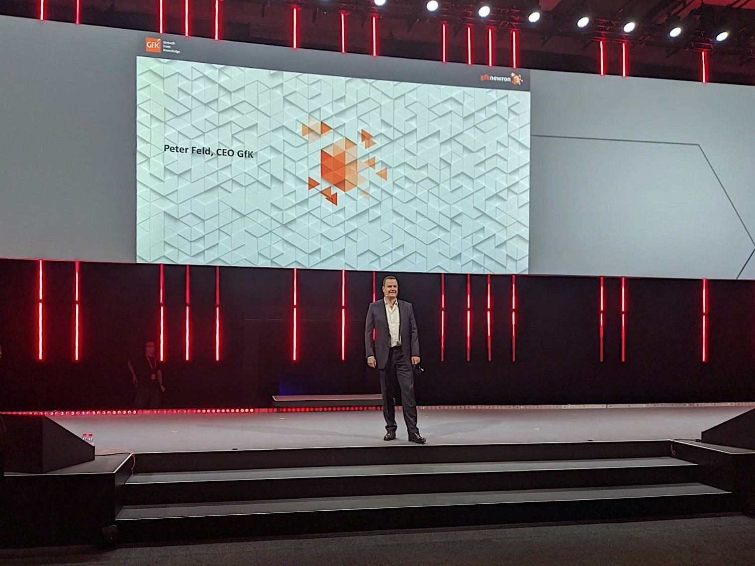 GfK CEO Peter Feld at his opening speech at the GPC on Sep 3, 2020